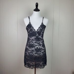 Victoria's Secret Black Lace Sexy Tank Chemise
